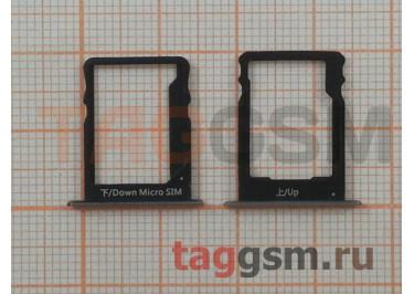Держатель сим для Huawei P8 Lite (черный)