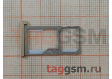 Держатель сим для Meizu M5 (золото)