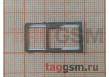 Держатель сим для Meizu M6 Note (серебро)