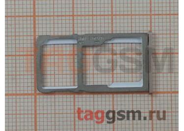 Держатель сим для Meizu M6 Note (золото)