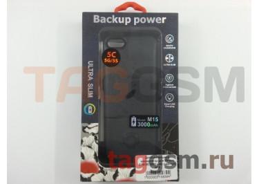 Дополнительный аккумулятор для iPhone 5 / 5S / SE 3000 mAh (черный) M15