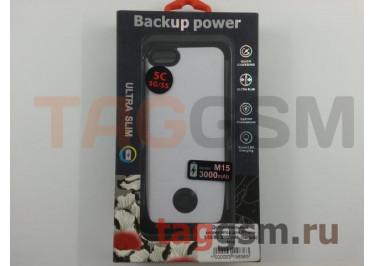 Дополнительный аккумулятор для iPhone 5 / 5S / SE 3000 mAh (белый) M15