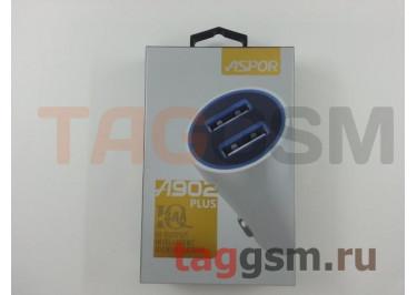 Автомобильное зарядное устройство USB 3400mA 2 выхода USB, (A902 Plus) ASPOR