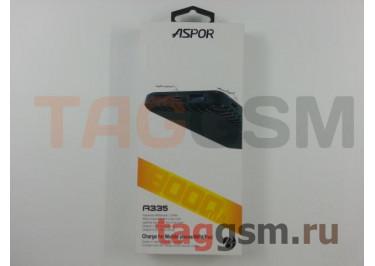 Портативное зарядное устройство (Power Bank) (Aspor A335, 2USB 3.0 / Type-C) Емкость 8000mAh (черный)