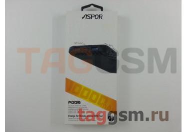 Портативное зарядное устройство (Power Bank) (Aspor A336, 2USB выхода 2400mAh  /  2400mAh) Емкость 10000mAh (черный)