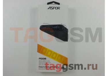 Портативное зарядное устройство (Power Bank) (Aspor A336, 2USB выхода 2400mAh  /  2400mAh) Емкость 10000mAh (белый)