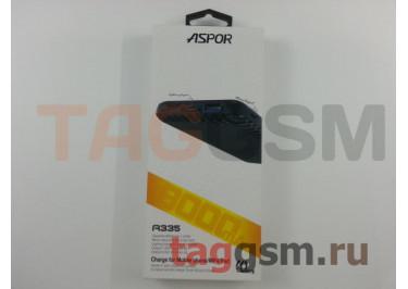 Портативное зарядное устройство (Power Bank) (Aspor A335, 2USB 3.0 / Type-C) Емкость 8000mAh (белый)