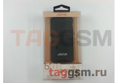 Портативное зарядное устройство (Power Bank) (Aspor A360, 2USB выхода 1000mAh  /  1000mAh) Емкость 5000mAh (черный)