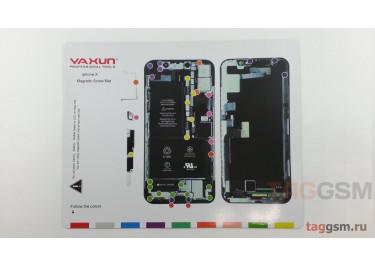 Магнитный коврик для разбора iPhone X (карта винтов)