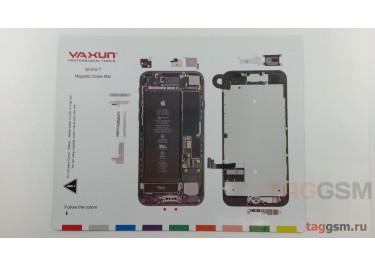Магнитный коврик для разбора iPhone 7 (карта винтов)