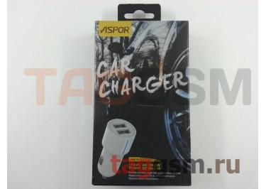 Автомобильное зарядное устройство USB 2400mA 2 выхода USB, (A905) ASPOR