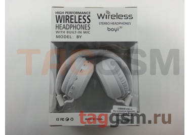Беспроводные наушники (полноразмерные Bluetooth) (белый) Boyi boyi-20