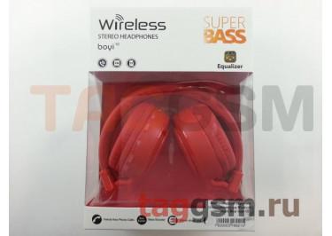 Беспроводные наушники (полноразмерные Bluetooth) (красный) Boyi boyi-10