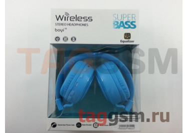 Беспроводные наушники (полноразмерные Bluetooth) (синий) Boyi boyi-10