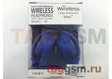 Беспроводные наушники (полноразмерные Bluetooth) (синий) Boyi boyi-20