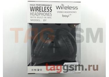 Беспроводные наушники (полноразмерные Bluetooth) (черный) Boyi boyi-20