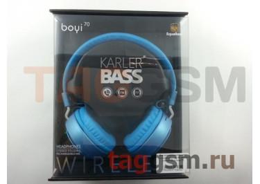Беспроводные наушники (полноразмерные Bluetooth) (синий) Boyi boyi-70
