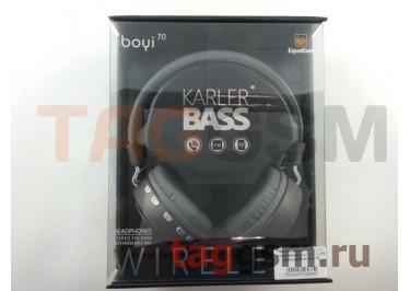 Беспроводные наушники (полноразмерные Bluetooth) (черный) Boyi boyi-70