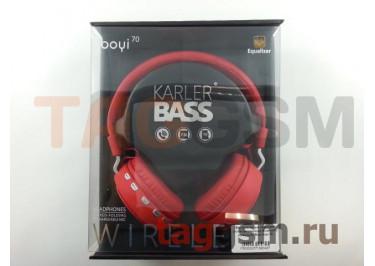 Беспроводные наушники (полноразмерные Bluetooth) (красный) Boyi boyi-70