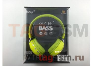 Беспроводные наушники (полноразмерные Bluetooth) (зеленый) Boyi boyi-70