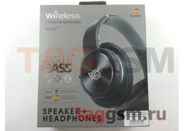 Беспроводные наушники (полноразмерные Bluetooth) (черный) Boyi boyi-30
