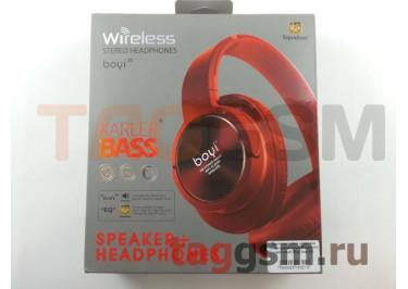 Беспроводные наушники (полноразмерные Bluetooth) (красный) Boyi boyi-30