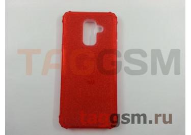 Задняя накладка для Samsung  Galaxy J8 (2018) (силикон, красная (BRILLIANT)) NEYPO