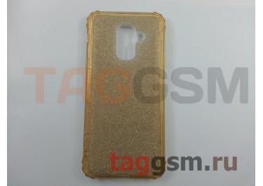 Задняя накладка для Samsung  Galaxy J8 (2018) (силикон, золото (BRILLIANT)) NEYPO