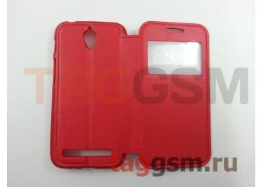 Сумка футляр-книга  для Asus Zenfone Go (ZC451TG) (с окном, на магните, красная) Ulike