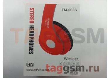 Беспроводные наушники (полноразмерные, Bluetooth, microSD) (фиолетовые) TM-003S