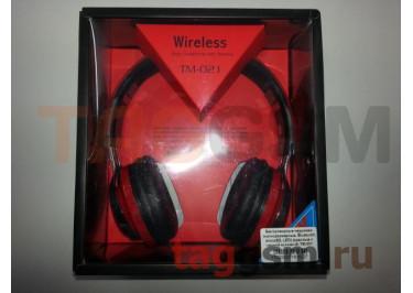 Беспроводные наушники (полноразмерные, Bluetooth, microSD, LED) (красные с черной вставкой) TM-021