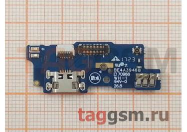 Шлейф для Meizu M5c + разъем зарядки + микрофон