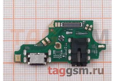 Шлейф для Huawei P20 Lite + разъем зарядки + разъем гарнитуры + микрофон