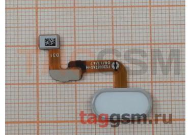 "Шлейф для Meizu M6 Note + кнопка ""Home"" (белый)"