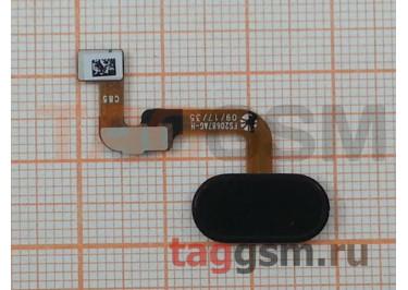 """Шлейф для Meizu M6 Note + кнопка """"Home"""" (черный)"""