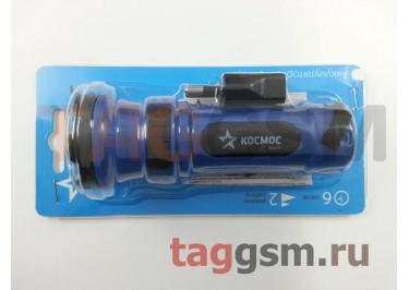 Светодиодный фонарь (2 режима, аккумуляторный, с прямой зарядкой) Космос Acc102