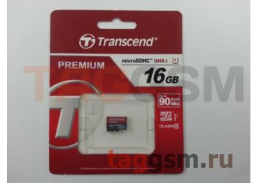Micro SD 16Gb Transcend Class 10 UHS-I 400x без адаптера SD