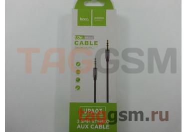 Аудио-кабель aux ткань серый, HOCO UPA03