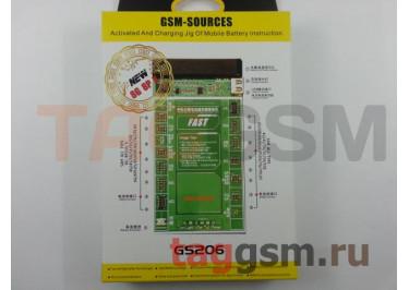 Плата для зарядки акб iPhone 4 / 4S / 5 / 5C / 5S / 6 / 6 Plus / 6S / 6S Plus / 7 / 7 Plus / 8 / 8 Plus / X / Samsung + провод питания + USB + индикатор (GS206)