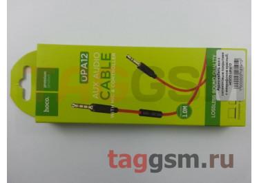 Аудио-кабель aux с силиконовым покрытием с микрофоном красный, HOCO UPA12
