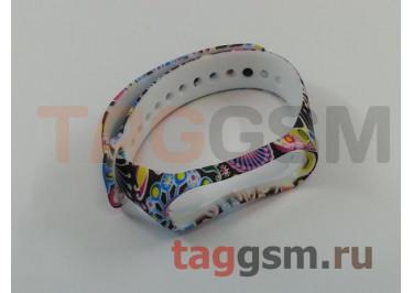 Браслет для Xiaomi Mi Band 3 / 4 (ассорти, узоры)