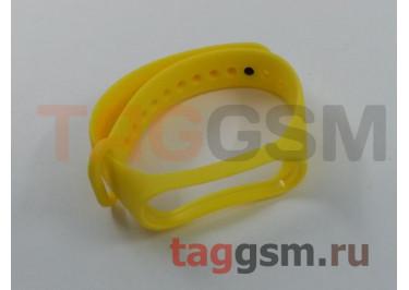 Браслет для Xiaomi Mi Band 3 / 4 (Strap AA) (желтый)