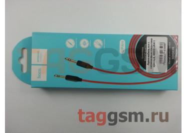 Аудио-кабель aux с силиконовым покрытием красный, HOCO UPA11