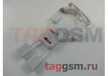 USB HUB 4 порта белый