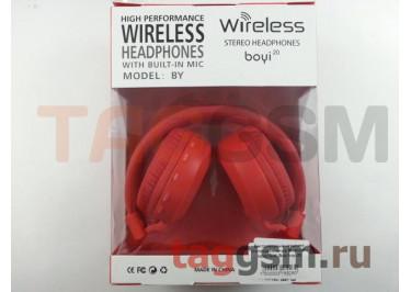 Беспроводные наушники (полноразмерные Bluetooth) (красный) Boyi boyi-20