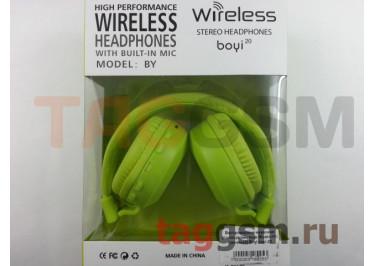 Беспроводные наушники (полноразмерные Bluetooth) (зеленый) Boyi boyi-20