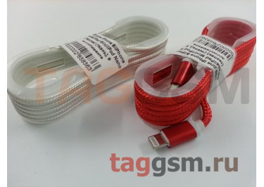 USB для iPhone 6 / iPhone 5 / iPad4 / iPad Mini / iPod Nano (техпак) (ткань), в ассортименте