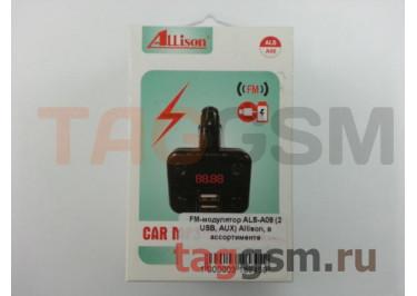 FM-модулятор ALS-A08 (2 USB, AUX) Allison, в ассортименте