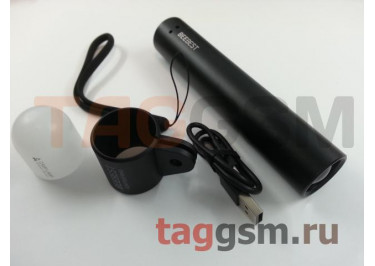 Фонарик Xiaomi Mijia BeeBest Zoom Flashlight  (2600 mAh, черный) (FZ101)