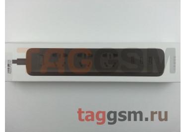 Сетевой фильтр Xiaomi Mini Power Strip 1.8m 3 розетки + 3 USB 2.1A (XMCXB01QM) (black)